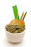 Bowl of asian herbal tea Royalty Free Stock Photos