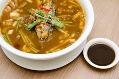 A bowl of assam laksa Stock Image
