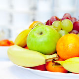 Bowl of Assorted Fruit Royalty Free Stock Photo