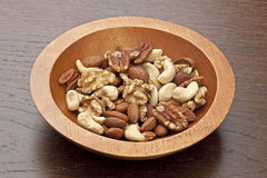 Bowl of assorted nuts Royalty Free Stock Photography