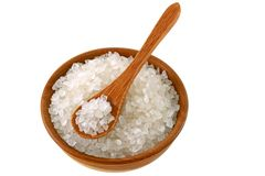 A bowl of Australian sea salt Royalty Free Stock Photography
