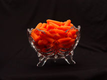 Bowl of Baby Carrots Stock Photos
