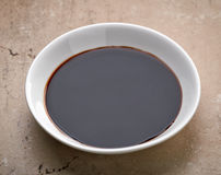 Bowl of balsamic vinegar Royalty Free Stock Photo