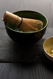 The bowl and bamboo whisk Royalty Free Stock Photo