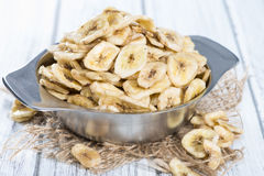 Bowl with Banana Chips Stock Photography