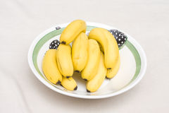 Bowl of banana's Royalty Free Stock Photos