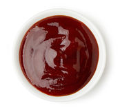 Bowl of barbecue sauce Stock Photo