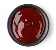 Bowl of barbecue sauce Royalty Free Stock Photography