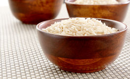 Bowl of Basmati rice Stock Photo