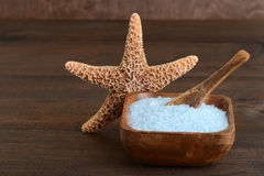 Bowl of bath salts Stock Photography