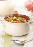 Bowl of bean soup Stock Image