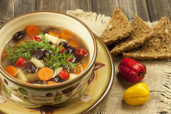 Bowl of bean soup Stock Image