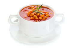 Bowl of bean soup Royalty Free Stock Images