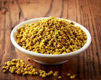 Bowl of bee pollen Stock Photo
