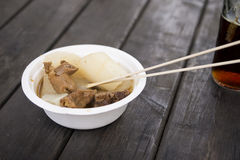 A bowl of beef offal Royalty Free Stock Photo