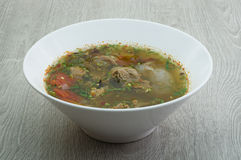 Bowl of beef soup Stock Image