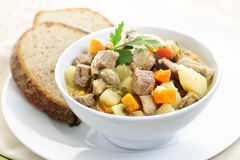 Bowl of beef stew Stock Photos