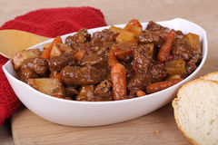 Bowl of Beef Stew Stock Photography