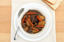 Bowl of beef stew Stock Image