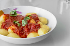Bowl of beef stew and potatoes Stock Image