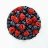 Bowl of berries. Royalty Free Stock Photos