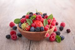 Bowl of berries fruits Royalty Free Stock Photo