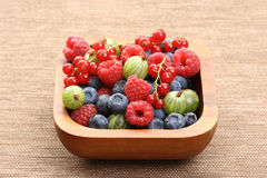 Bowl of berry fruits Stock Photos