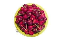 Bowl of Bing Cherries Top View Royalty Free Stock Photo