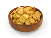 Bowl Bite Size Crackers Royalty Free Stock Image