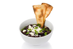 Bowl of Black Beans Stock Photography