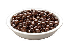 Bowl of Black Beans (with clipping path) Stock Photos