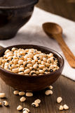 Bowl of black-eyed bean Royalty Free Stock Images