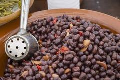 Bowl of Black Olives Stock Images