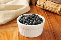 Bowl of black turtle beans Stock Image
