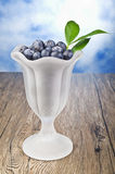 Bowl blueberries Royalty Free Stock Photos