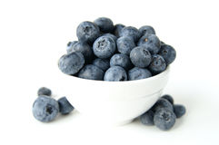 Bowl of blueberries. A still life of a bowl of blueberries royalty free stock images