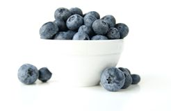 Bowl of blueberries. A still life of a bowl of blueberries royalty free stock photos