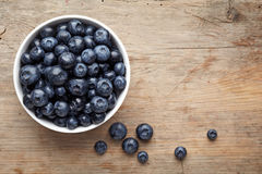Bowl of blueberries Royalty Free Stock Photos
