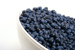 Bowl with blueberries Stock Photography