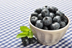 Bowl of blueberries Stock Photography