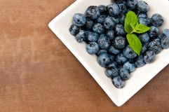 Bowl of blueberries Stock Photos