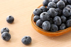 Bowl of Blueberries Royalty Free Stock Photography