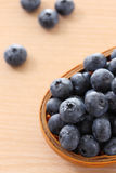 Bowl of Blueberries Stock Image
