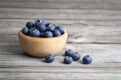 Bowl of blueberries Royalty Free Stock Images