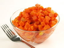 Boiled chopped carrot Stock Photos