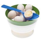Bowl of Boiled Quail Eggs Royalty Free Stock Photo