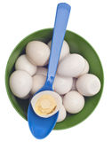 Bowl of Boiled Quail Eggs Stock Photography