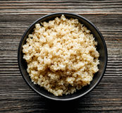Bowl of boiled Quinoa Royalty Free Stock Photos