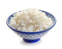 Bowl of boiled rice Stock Image