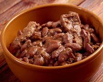 Bowl of boston baked beans Royalty Free Stock Photography